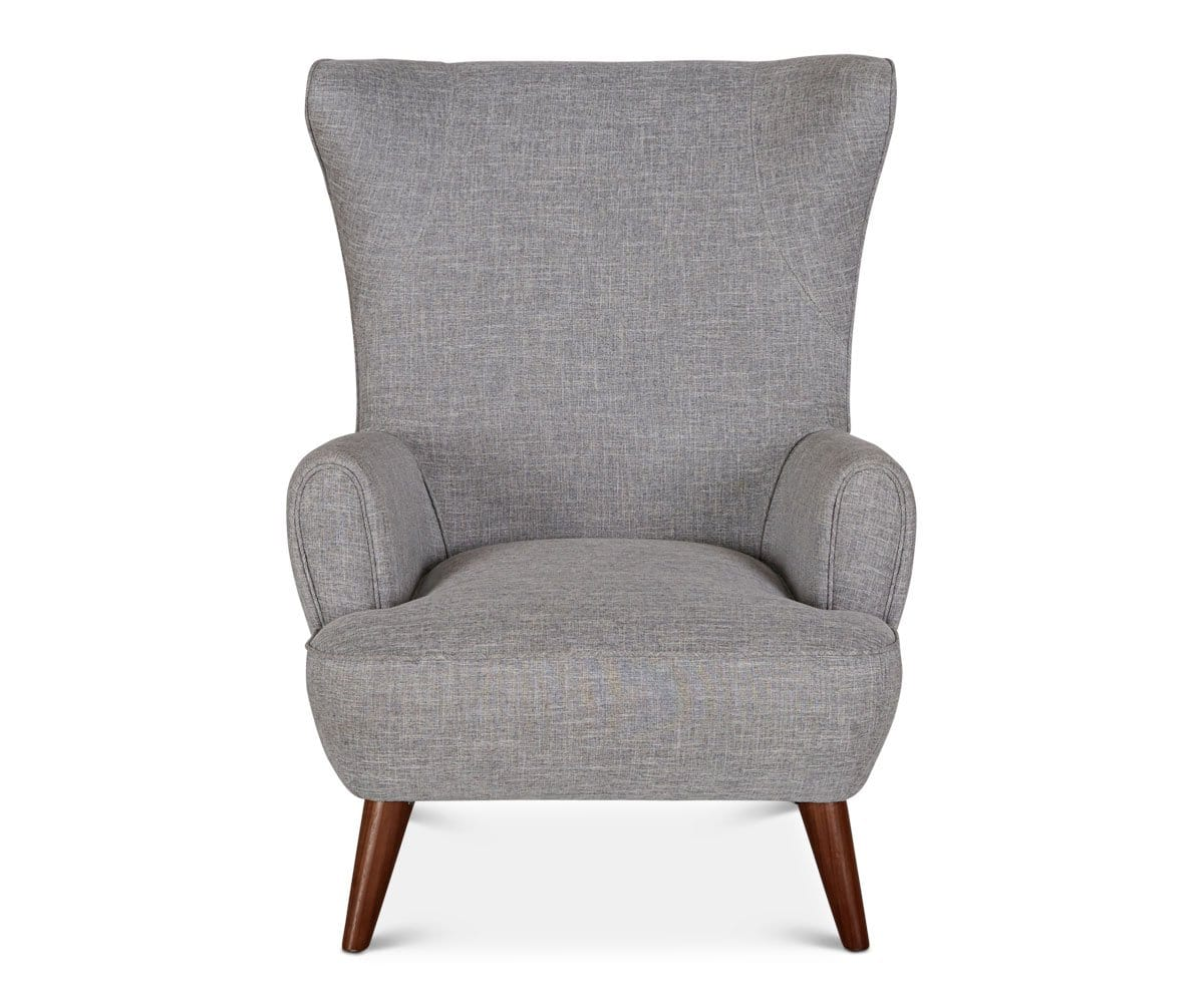 Katja High Back Chair - Grey - Scandinavian Designs