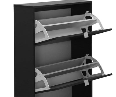 Gren 3-Door Shoe Cabinet Black - Scandinavian Designs