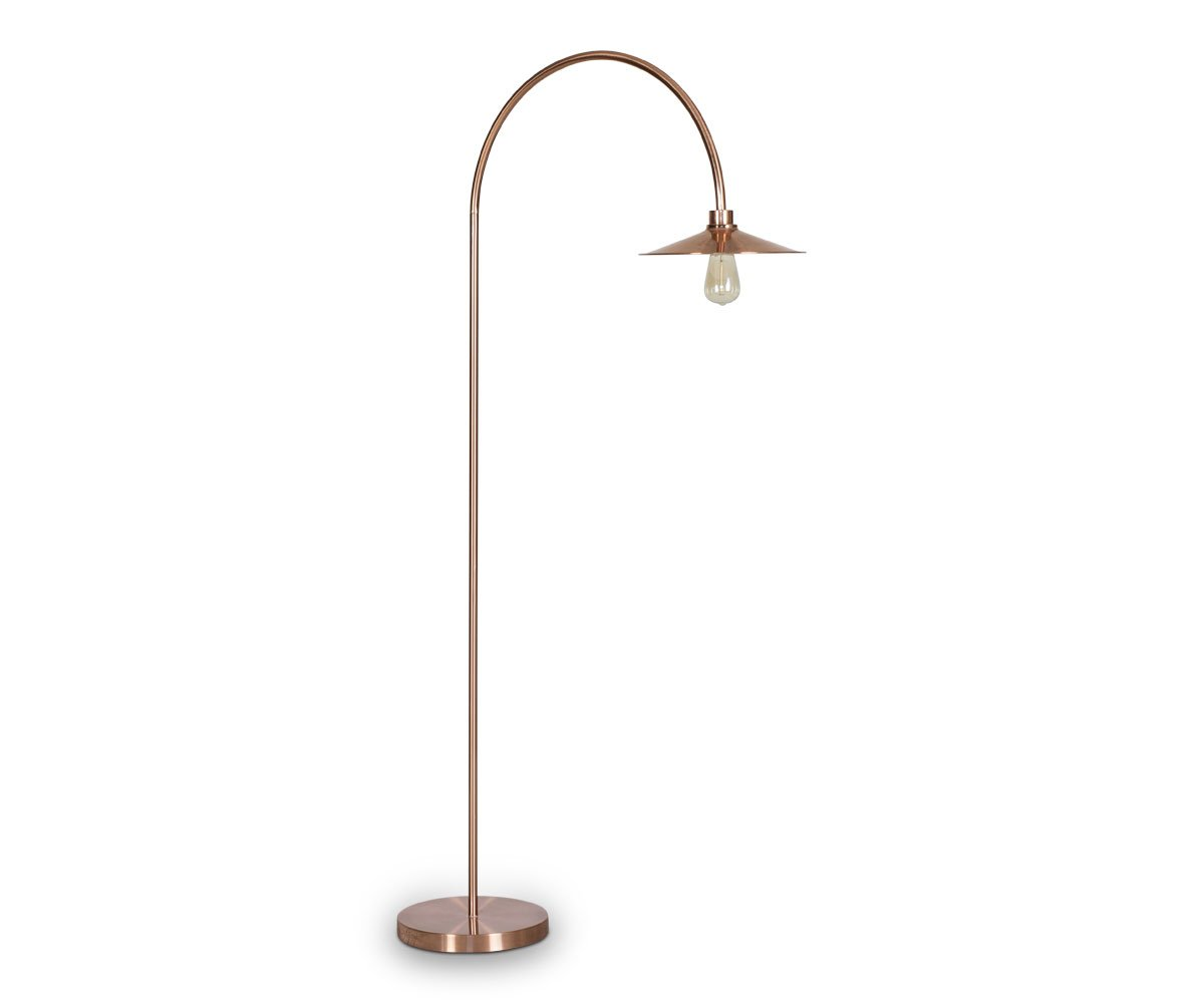Skal Arch Floor Lamp - Copper - Scandinavian Designs