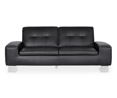 Francesca Leather Sofa BLACK Z76/99 - Scandinavian Designs