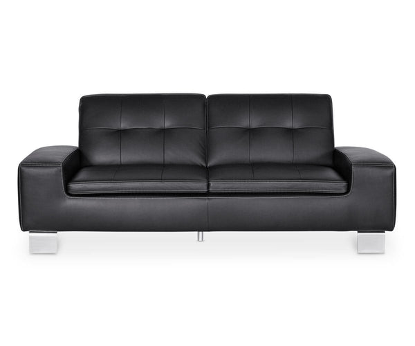 Pleasant Francesca Leather Sofa Black Gmtry Best Dining Table And Chair Ideas Images Gmtryco