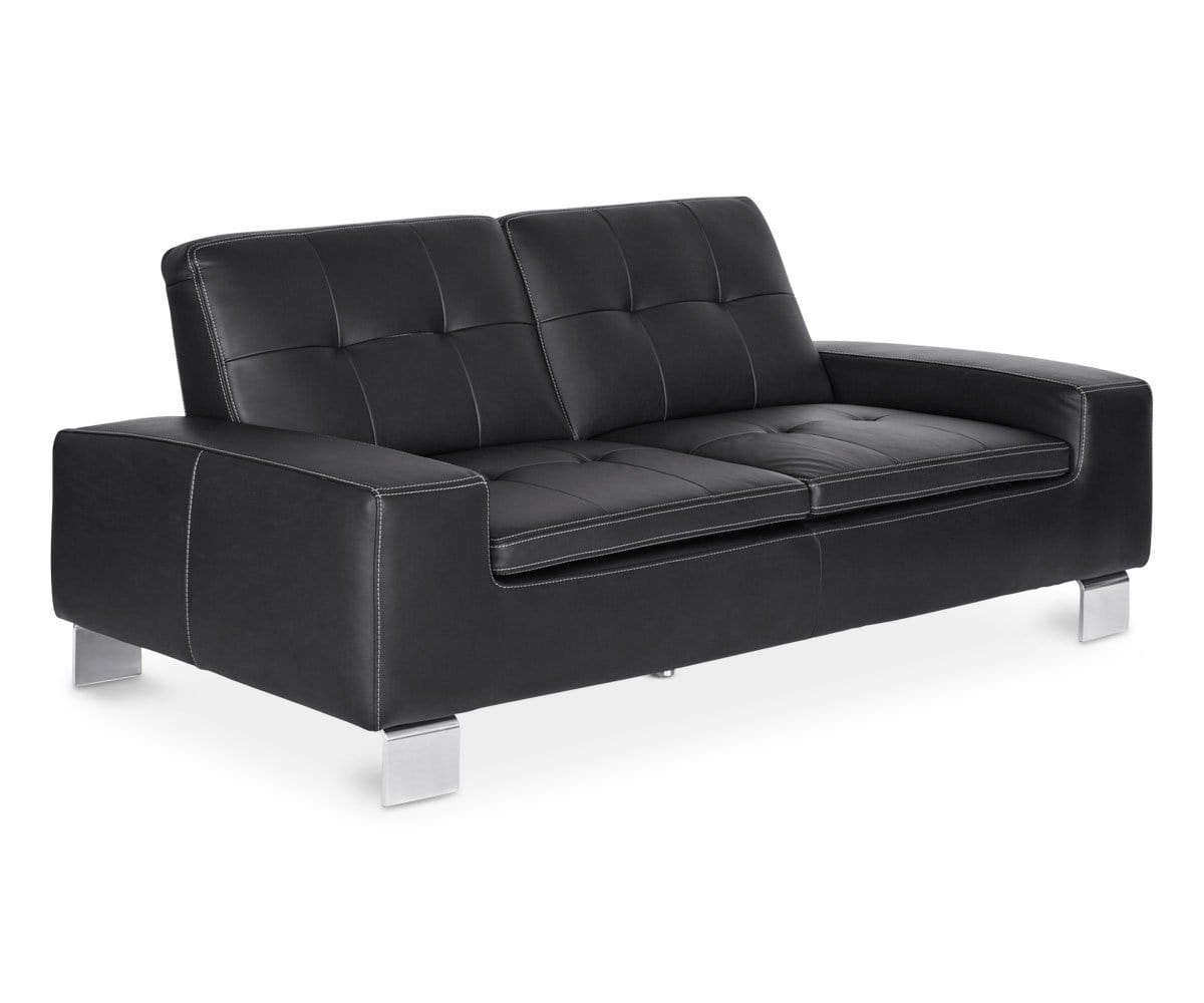 Francesca Leather Sofa - Black