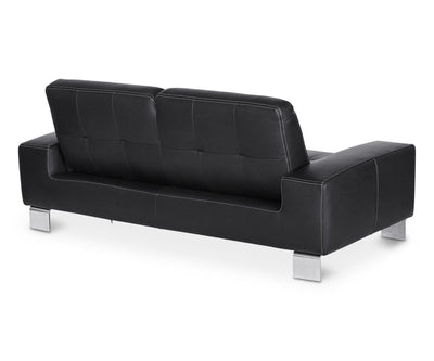 Francesca Leather Sofa - Black BLACK Z76/99 - Scandinavian Designs
