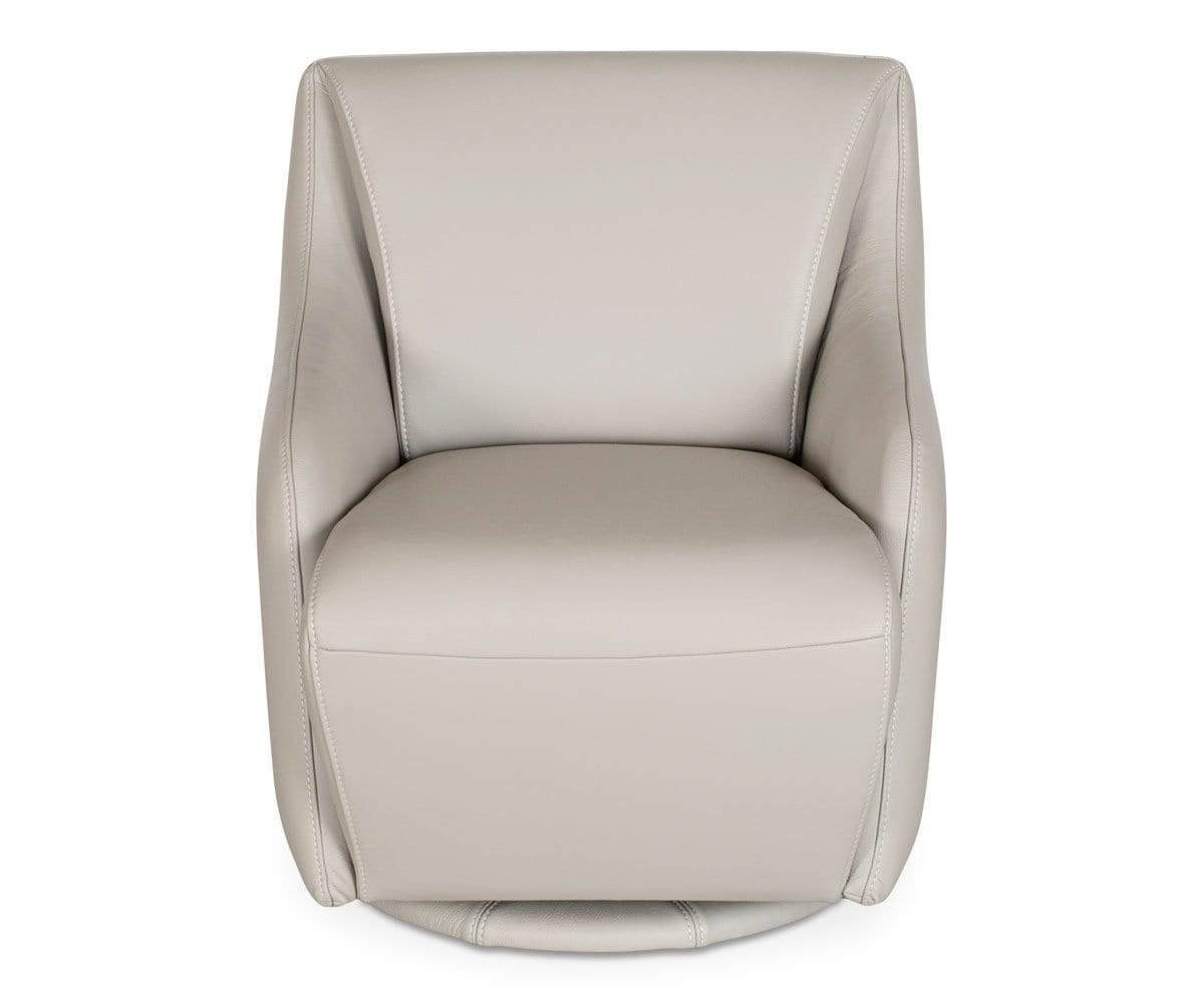 Contemporary Scandinavian leather swivel chair
