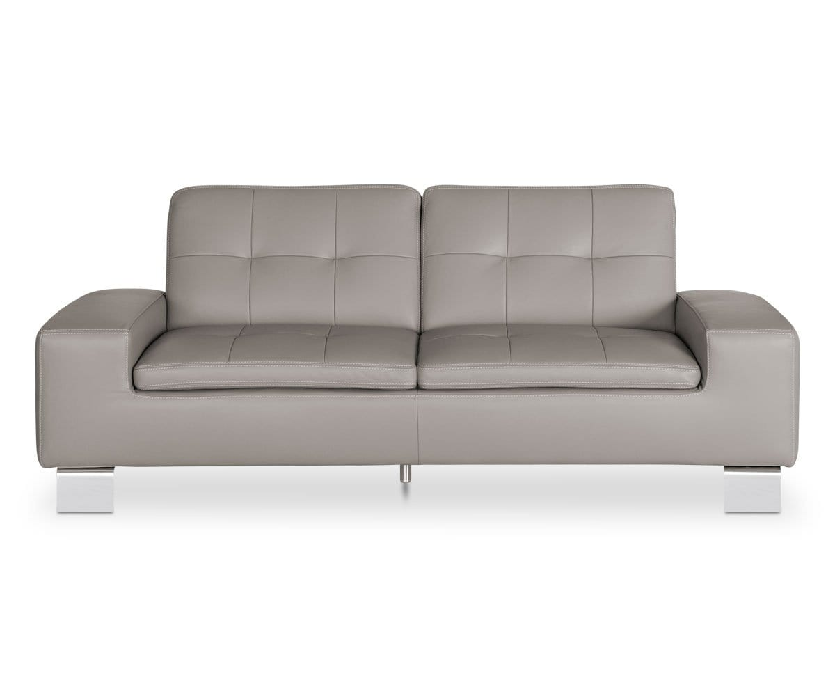 Francesca Leather Sofa - Grey