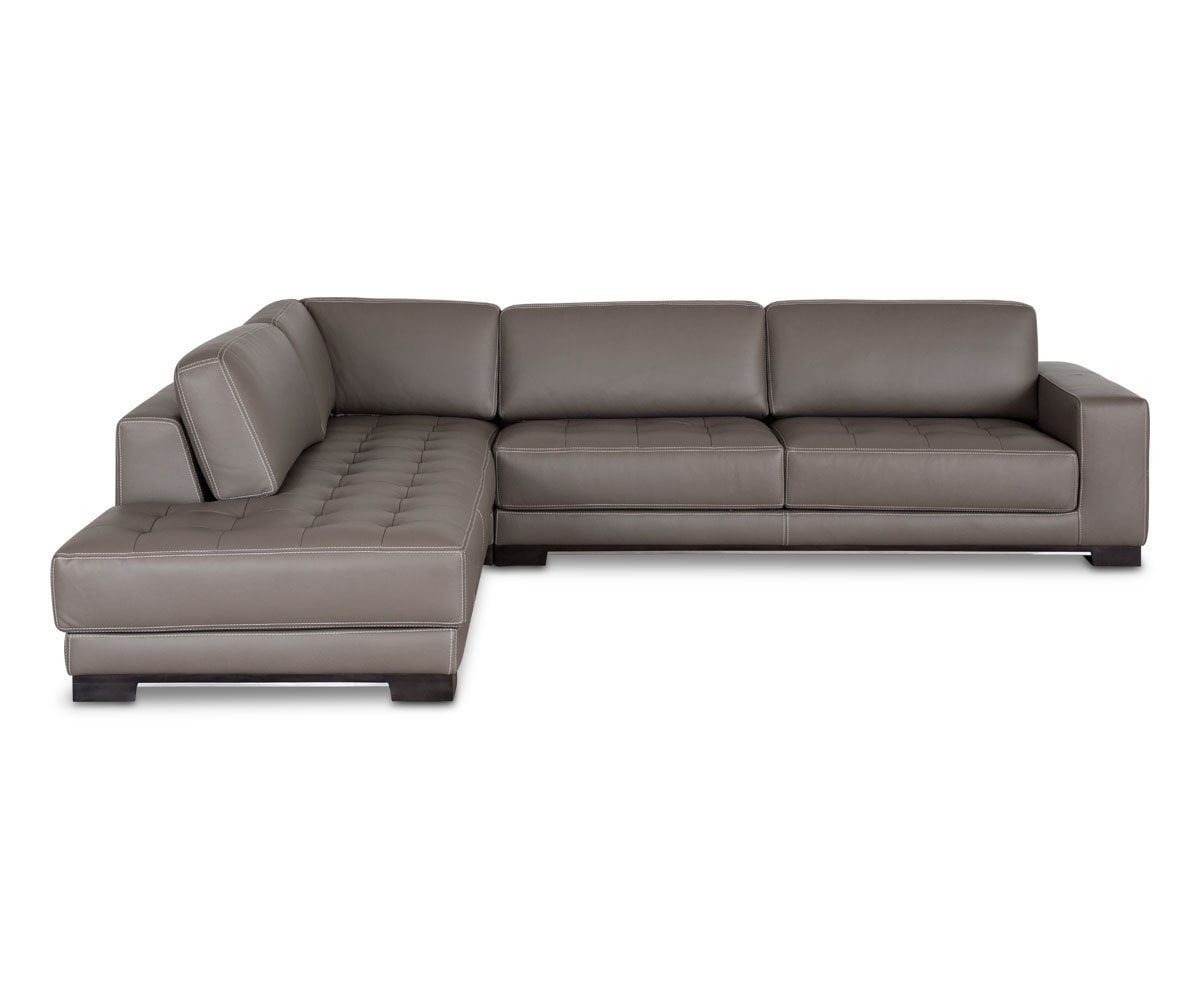 Andreas Leather Left Sectional - Scandinavian Designs
