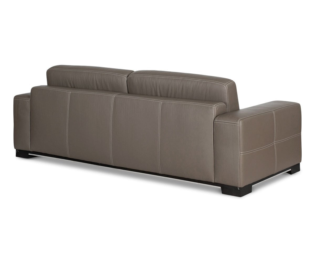 Andreas Leather Sofa TAUPE Z76/22 - Scandinavian Designs
