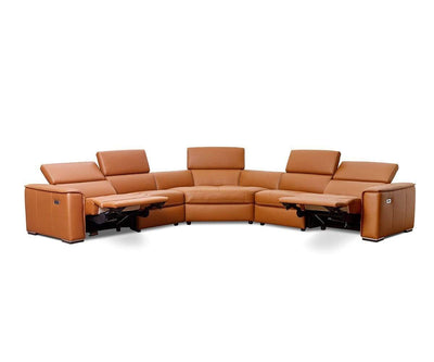 Kopervik Leather Power Reclining Sectional Cognac Z76/51 / Full Sectional - Scandinavian Designs