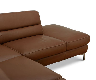 Campsis Leather Right Sectional - Scandinavian Designs