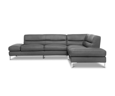 Campsis Leather Right Sectional Grey Z76/25 - Scandinavian Designs