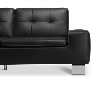 Francesca Leather Sofa Black Z59/99 - Scandinavian Designs