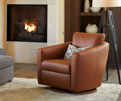 Linus Swivel Glider Chair - Scandinavian Designs