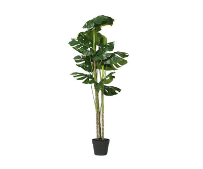 Faux Potted Monstera Floor Plant Green - Scandinavian Designs