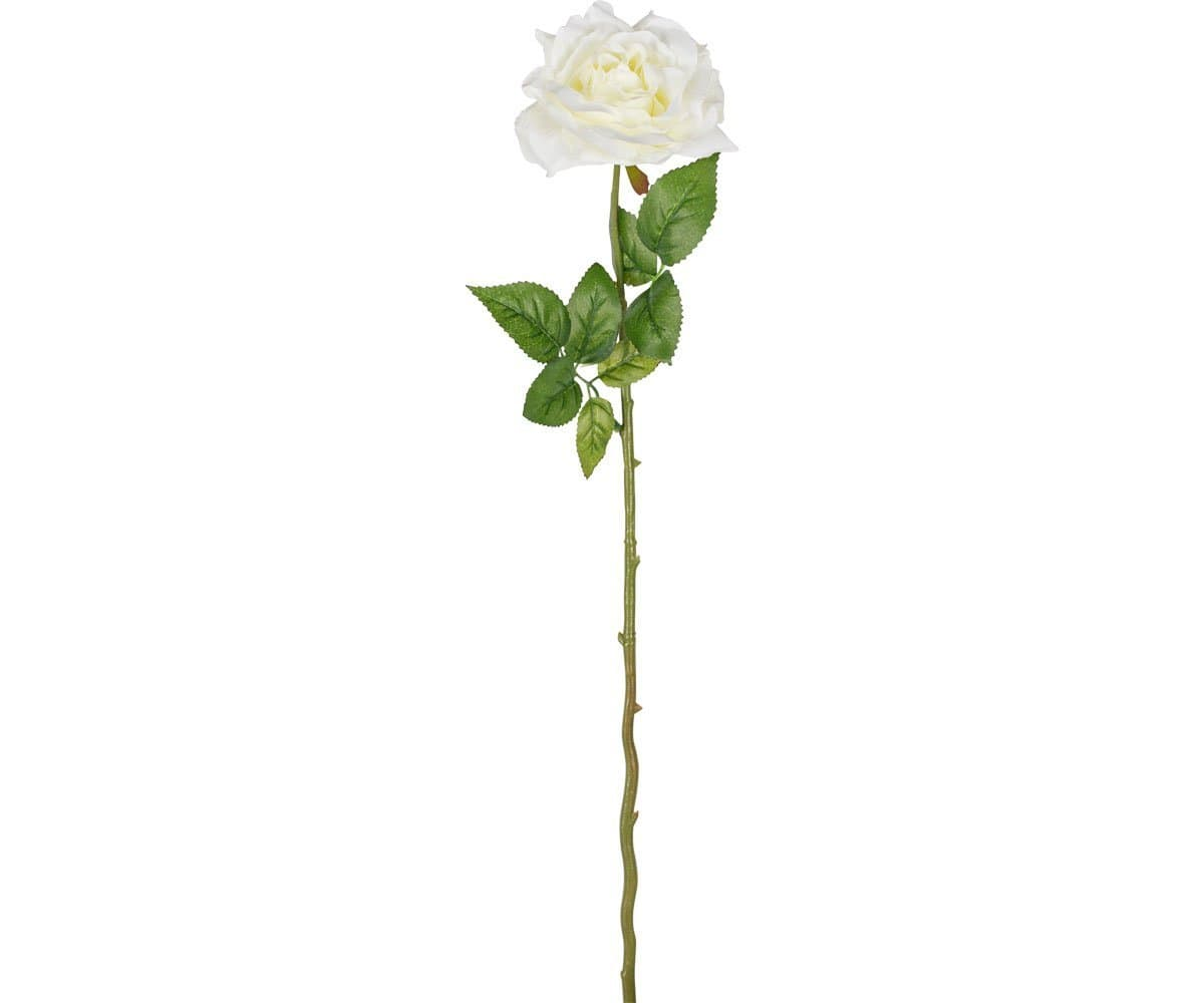 Single White Faux Rose Stem Scandinavian Designs