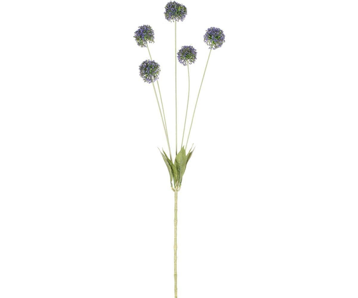 Round Purple Faux Blossom Stem - Scandinavian Designs