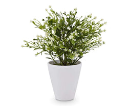 Potted Faux Flowering Plant - Scandinavian Designs
