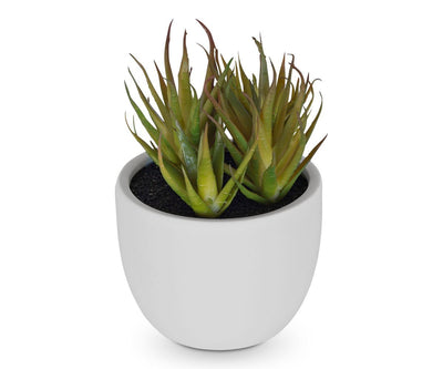 Bright Green Faux Succulent WHITE - Scandinavian Designs