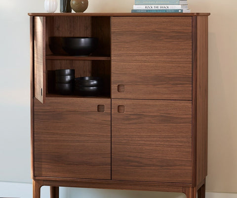 Sundby 4-Door Cabinet Oiled Walnut - Scandinavian Designs