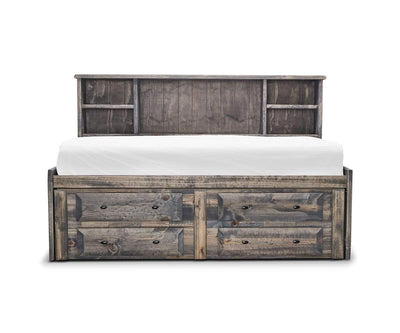 Brennan Twin Captains Bed Grey Driftwood / Twin - Scandinavian Designs