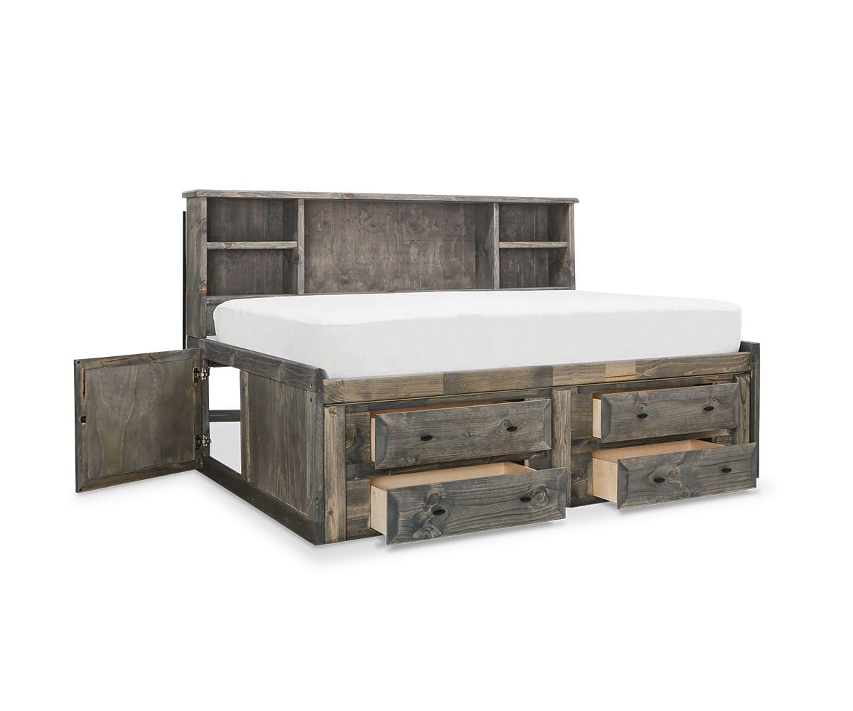 Brennan Full Captains Bed Grey Driftwood / Full - Scandinavian Designs