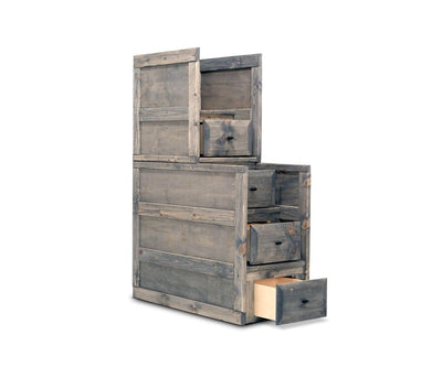 Brennan Stairway Chest Grey Driftwood - Scandinavian Designs