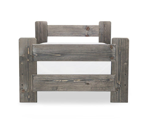 Brennan Twin Bed Grey Driftwood / Twin - Scandinavian Designs