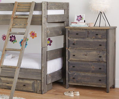Brennan High Chest Grey Driftwood - Scandinavian Designs