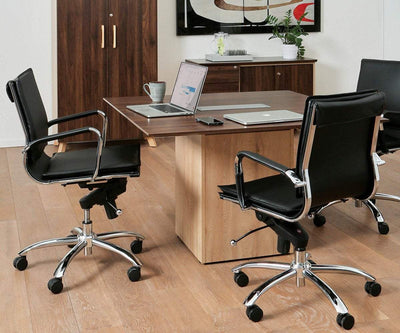 Brock Low Back Office Chair Cognac Brown - Scandinavian Designs
