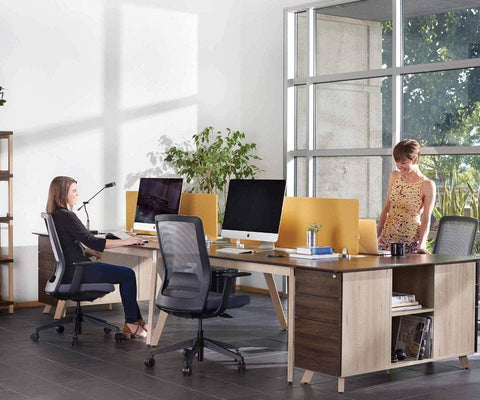 Thorsten Double Desk Thorsten Walnut - Scandinavian Designs