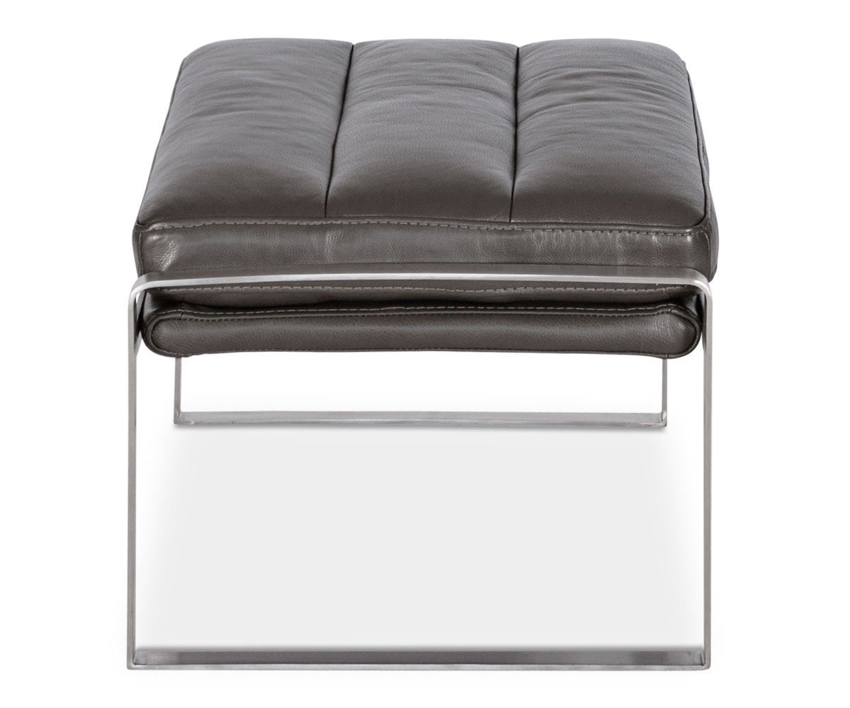 Cigno Leather Ottoman - Scandinavian Designs
