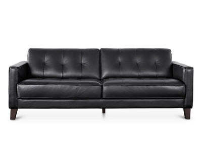 Gregata Leather Sofa - Black BLACK MS114 - Scandinavian Designs