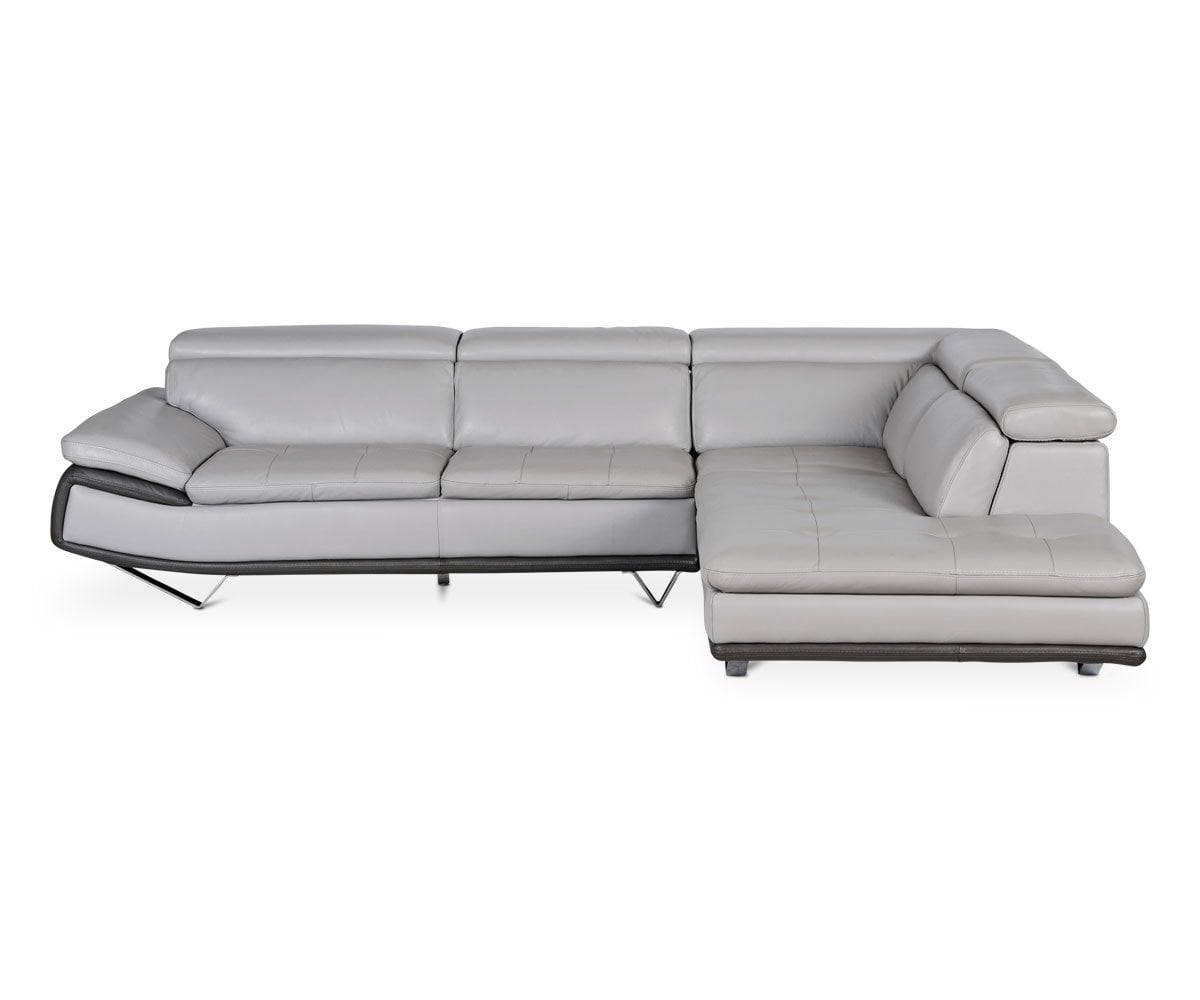 Meringa Leather Right Sectional - Scandinavian Designs