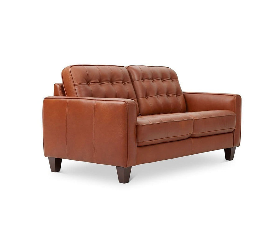 Gustav Leather Loveseat