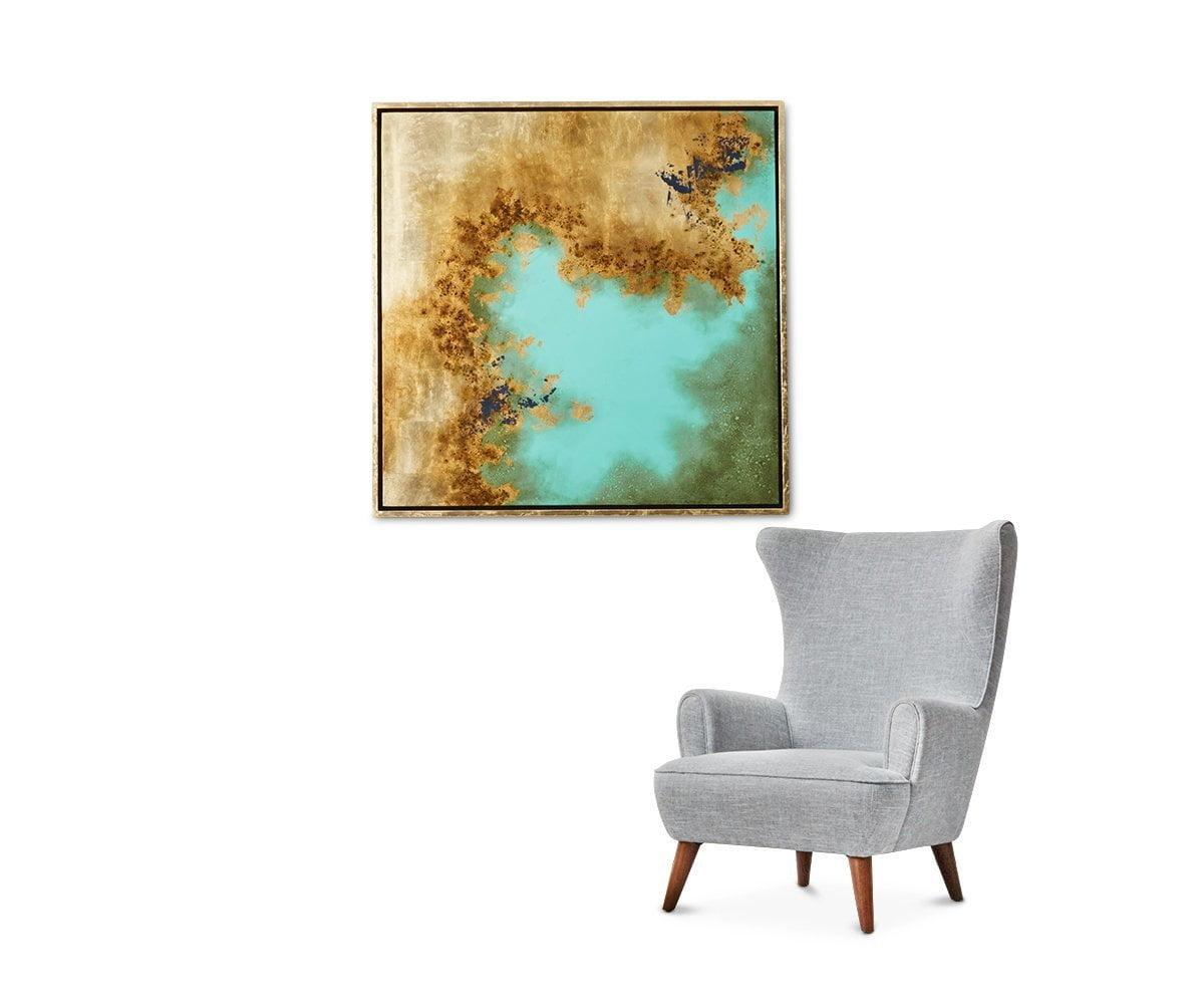 Charismatic Calm Wall Art Gold/Multi - Scandinavian Designs
