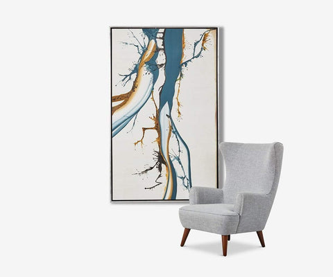 Distinctive Abstract Wall Art Blue/Multi - Scandinavian Designs