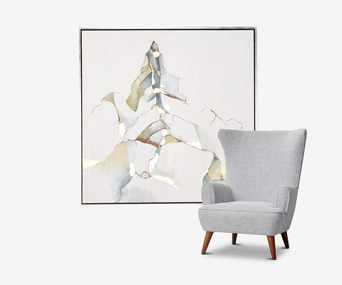 Illustrious View Wall Art White/Multi - Scandinavian Designs
