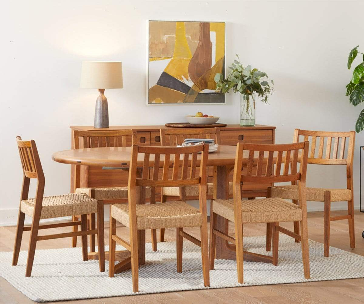Evon Round Extension Dining Table Scandinavian Designs