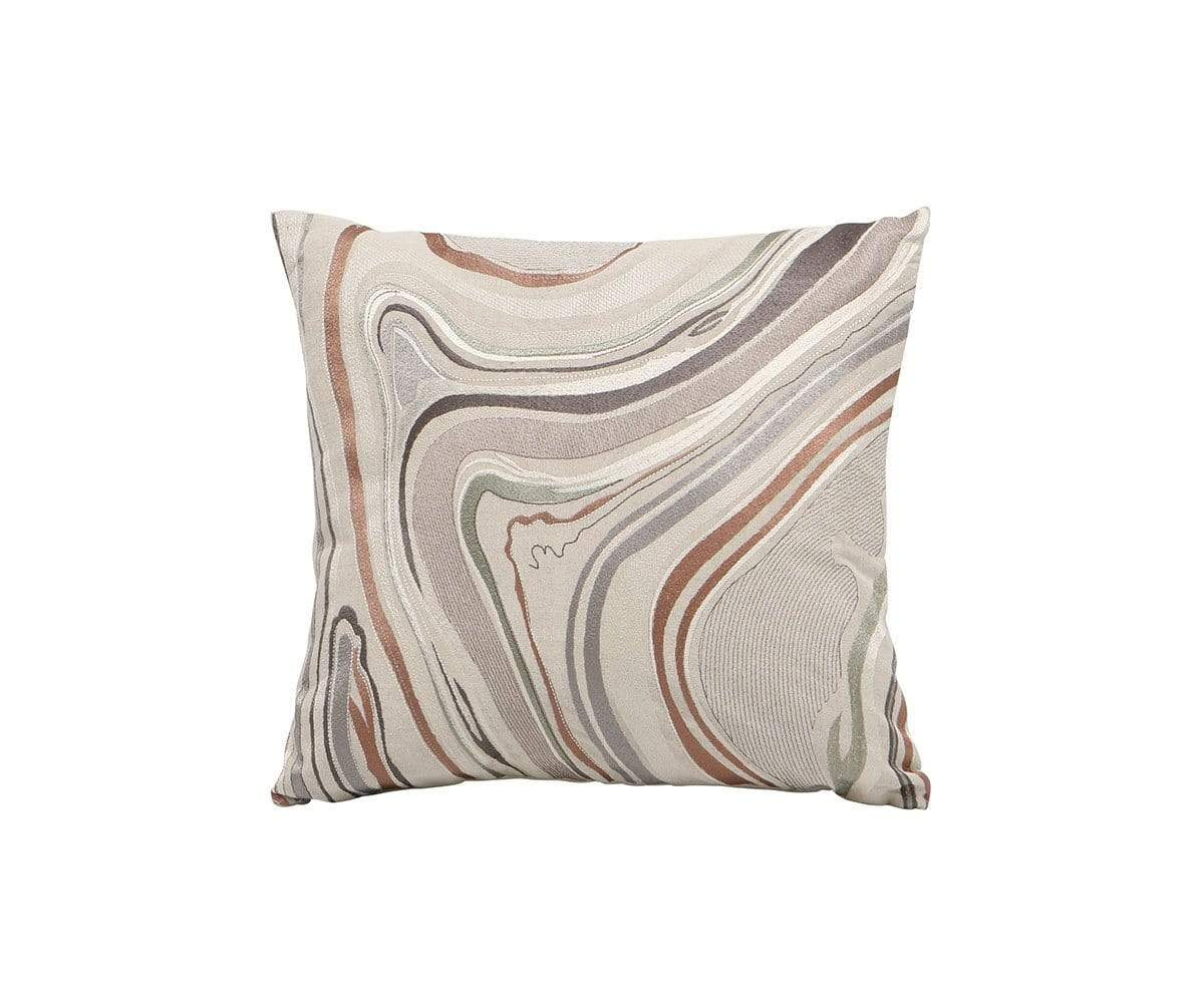 "Amot 18 x 18"" Pillow Cover Beige/Multi - Scandinavian Designs"