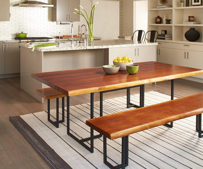 Hasse Dining Table TIMBER BROWN - Scandinavian Designs