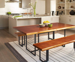 Hasse Dining Bench TIMBER BROWN - Scandinavian Designs