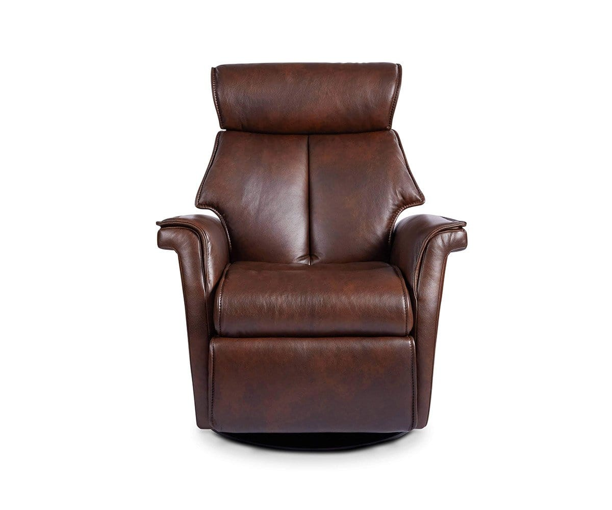 Korsvik Leather Power Recliner - Small Brown S551 - Scandinavian Designs