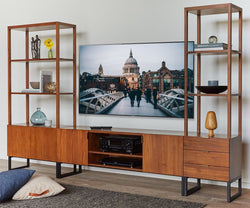 Meidan Media Stand TEAK - Scandinavian Designs