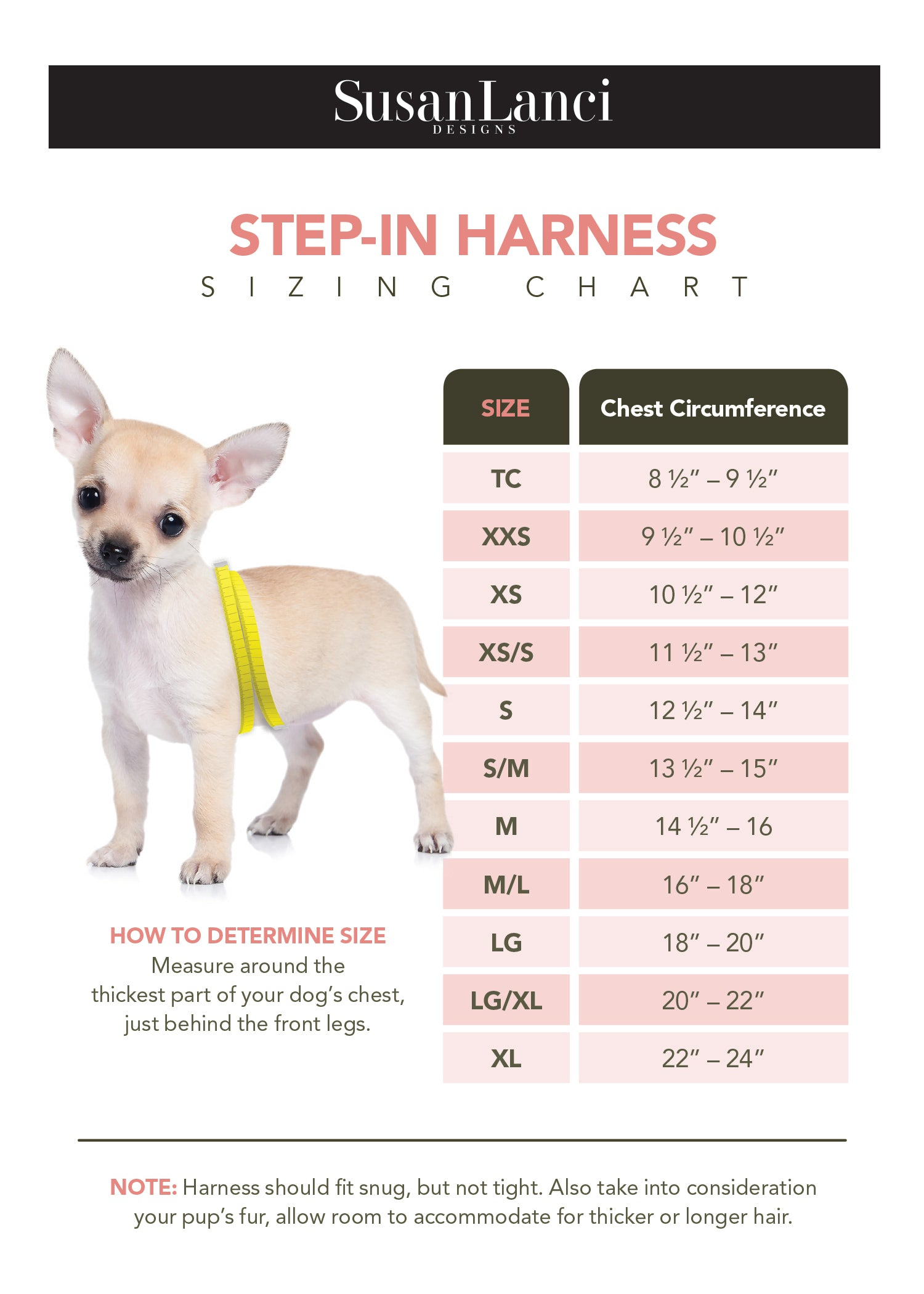 Step In Size Chart