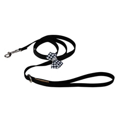 Black & White Houndstooth Nouveau Bow Leash