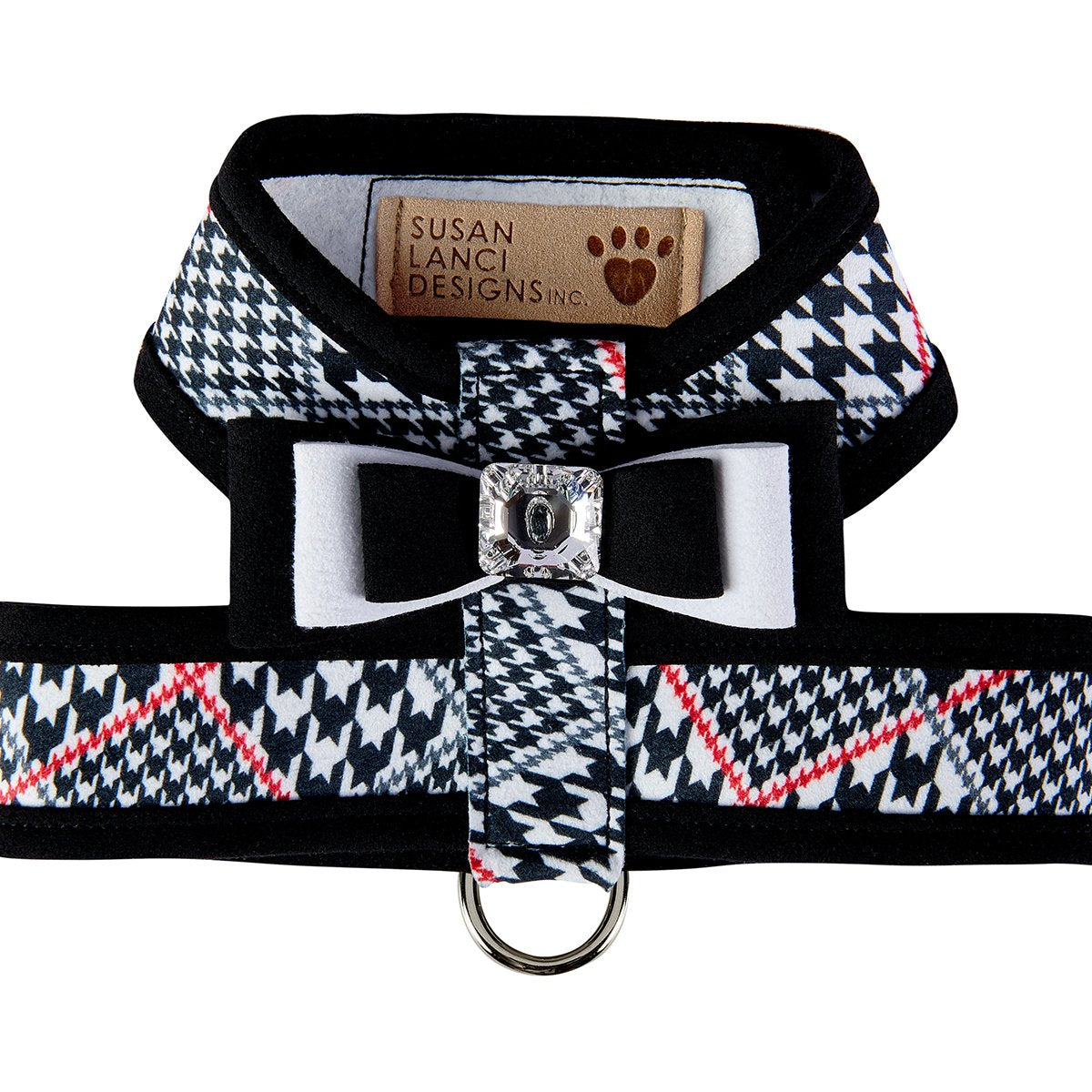 Glen Houndstooth Tinkie Harness with Really Big Bow and Trim