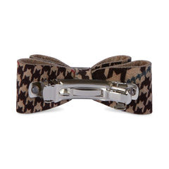 Glen Houndstooth Single Big Bow Hair Bow
