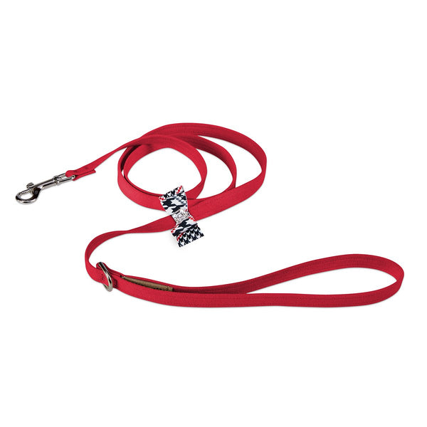 Glen Houndstooth Big Bow Leash