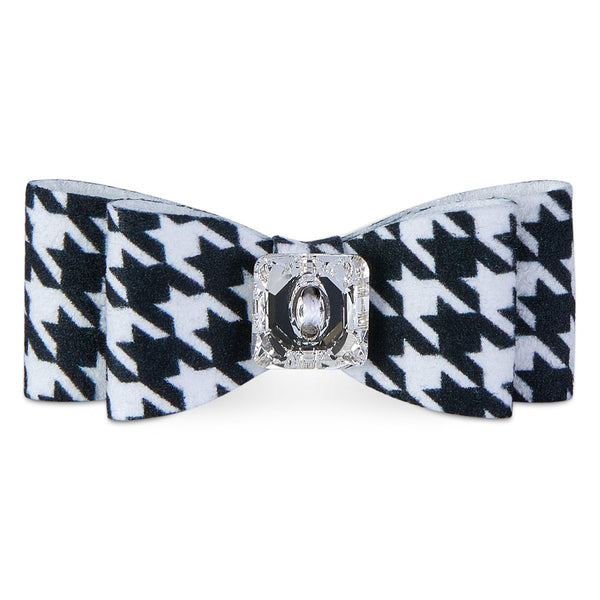 Black & White Houndstooth Big Bow Hair Bow