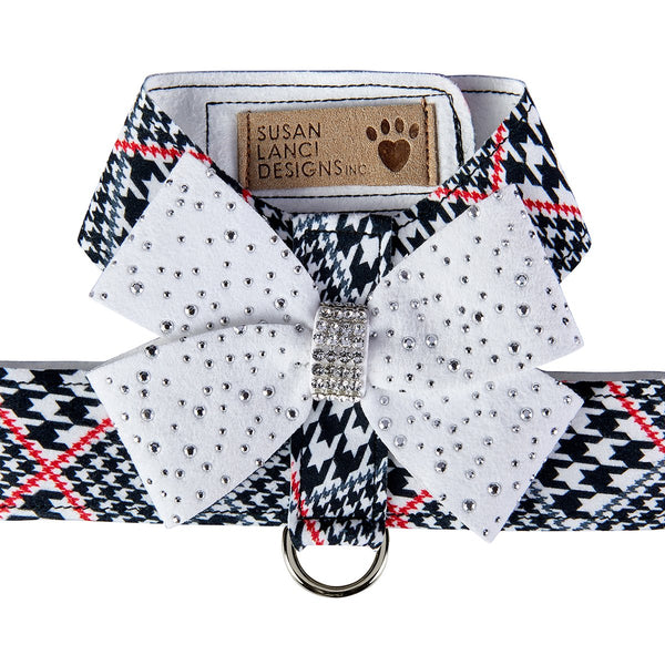 Glen Houndstooth Stardust Nouveau Bow Tinkie Harness