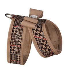 Glen Houndstooth Tinkie Harness with Trim and Big Bow